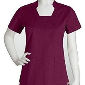 ❤️Barco ICU Burgundy Medical Scrub Top Cotton 2XL